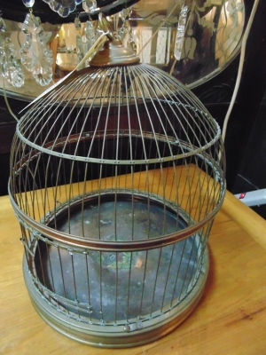 36 83604 OLD BRASS BIRD CAGE