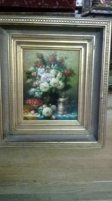 FRAMED FLORAL OIL PAINTING ON BOARD.jpg