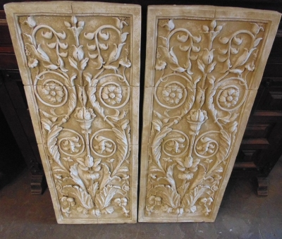 14C24714 NOT OLD PLASTER PANELS PAIR