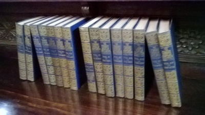 36-85420 SET OF 15 VOLUMES C. 1937 ENCYCLOPEDIAS.jpg