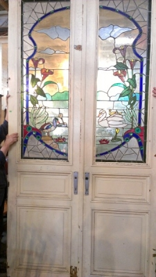 FABULOUS PAIR OF TALL STAINED GLASS DOORS (2).jpg