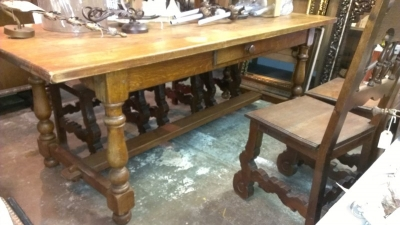 OAK TURNED LEG TABLE WITH DRAWER (1).jpg