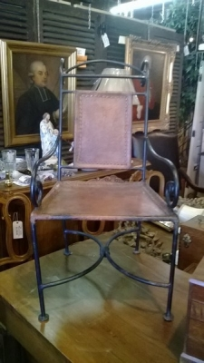 15C26 IRON AND LEATHER CHILDS CHAIR.jpg