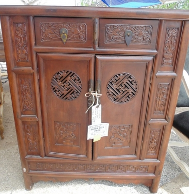 11 H25035 LARGE AND VERY DEEP CHINESE CABINET $275.