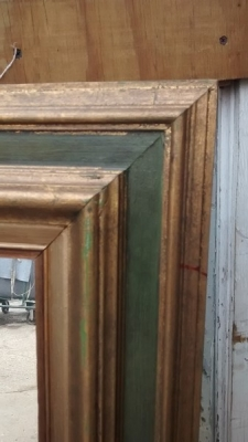 15D22116 TALL GILT AND GREEN FRAMED MIRROR (2).jpg