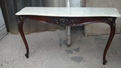 15D22121 FAUX MARBLE TOP CONSOLE TABLE (1).jpg