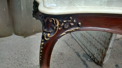15D22121 FAUX MARBLE TOP CONSOLE TABLE (2).jpg