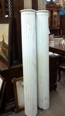 15D23604 PAIR OF WHITE FLUTED COLUMNS WITH CORINTHIAN CAPITALS (13).jpg