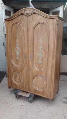 15D23608 2 DOOR ITALIAN ARMOIRE WITH PAINT DETAIL (1).jpg