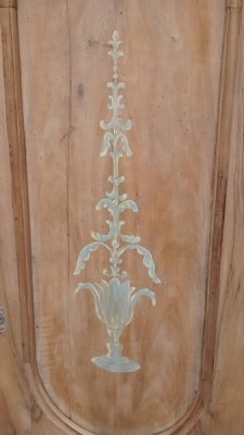 15D23608 2 DOOR ITALIAN ARMOIRE WITH PAINT DETAIL (2).jpg