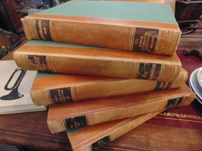 14D01301 5 LEATHER BOUND BOOKS LARGE