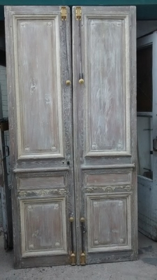 15D23649 TALL FABULOUS  FRENCH DOORS WITH ORIGINAL HARDWARE (1).jpg