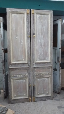 15D23649 TALL FABULOUS  FRENCH DOORS WITH ORIGINAL HARDWARE (2).jpg