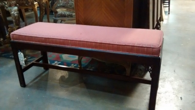 36-84627 CHIPPENDALE BENCH BY BAKER.jpg