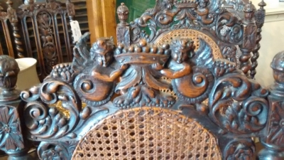 15E04401 PAIR OF FRENCH CARVED CHAIRS WITH ANGEL DETAIL AND CANED SEATS AND BACKS (3).jpg
