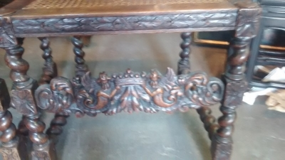 15E04401 PAIR OF FRENCH CARVED CHAIRS WITH ANGEL DETAIL AND CANED SEATS AND BACKS (7).jpg