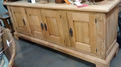 15B06034 LARGE STRIPPED RUSTIC OAK SIDEBOARD (1).jpg