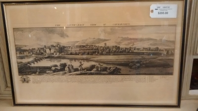 15D27101 FRAMED ENGRAVING OF RIVER AT CARMARTHEN.jpg