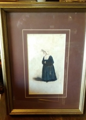 15E05153 SMALL FRAMED NUN WITH HABIT LITHO.jpg