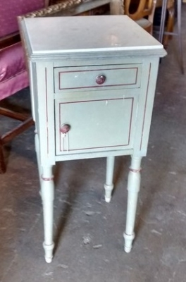 15E05150 FRENCH MARBLE TOP PAINTED LAMP TABLE (1).jpg
