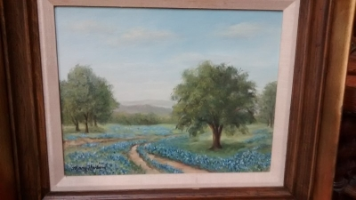 FUN-4097 VINTAGE BLUEBONNET PAINTING BY MARY HARDIN.jpg