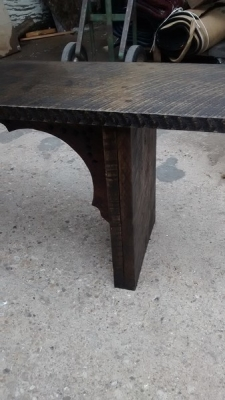 GRP BENCH MADE FROM ROUGH HEWN PLANKS (3).jpg