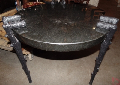14C31249 GRANITE AND METAL TABLE FAUX BOIS LEGS
