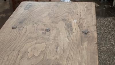 15E07002 18TH CENTURY IRON STRETCHER TRESTLE TABLE (3).jpg