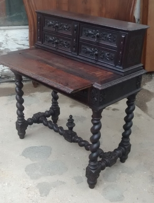 15E07003 BARLEY TWIST DESK WITH DRAWERS ON TOP (2).jpg