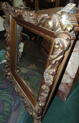36 FANCY GOLD MIRROR FRAME GILT