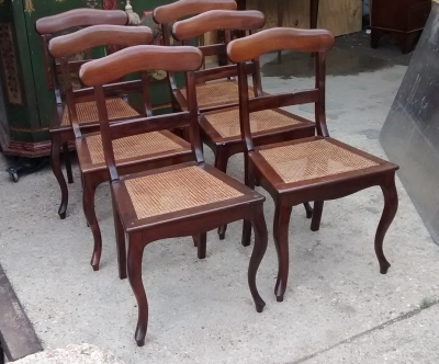 15E07104 SET OF 6 BRITTISH COLONIAL CANED CHAIRS (1).jpg