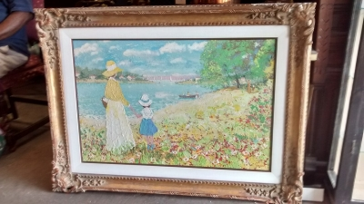 15E06500 FRENCH LADY AND CHILD BY A LAKE (1).jpg