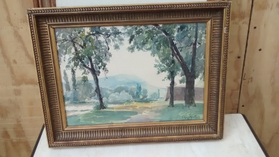 15E07119 GOLD FRAMED LANDSCAPE BY FELIX GUIOTGUILLIAN.jpg
