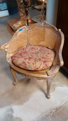 15E12006 LOUIS XV  STYLE GOLD BERGERE CHAIR NOT VERY OLD (1).jpg