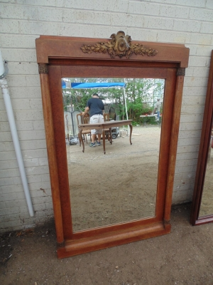 14D020025 FRENCH EMPIRE MIRROR WITH ORMOLU