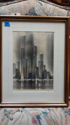 15E12014 LITHO SIGNED BY RICHARD FLORSHEIM -THE CITY.jpg