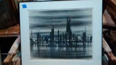 15E12016 LG. LITHO SIGNED BY RICHARD FLORSHEIM  -CITY SIGNS.jpg