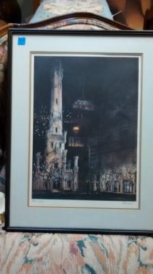 15E12018 TOM LYNCH TOWER LIGHTS FRAMED PRINT SIGNED.jpg