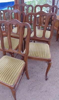 14D02011 SET OF 5 LOUIS XV LOOP BACK CHAIRS
