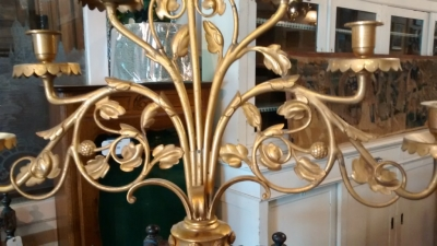 15E19027 PAIR OF BRASS CANDLEABRAS (3).jpg