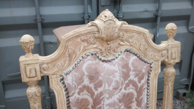 15E19034 PAIR OF PAINTED WHITE TALL BACK CHAIRS (2).jpg