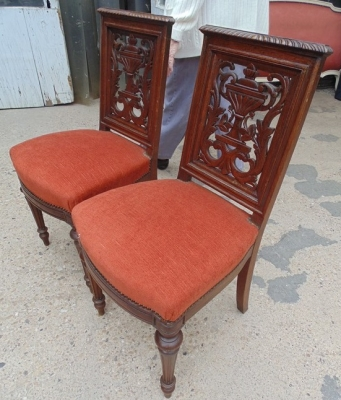 14D02023A PAIR OF CARVED FRENCH CHAIRS