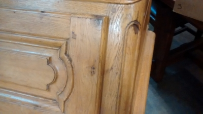 15E19029 LIGHT OAK PEGGED 19TH CENTURY SECRETARY (4).jpg