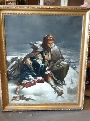 15E19150 19TH CENTURY SIGNED SOLDIER AND BOY OIL PAINTING (1).jpg