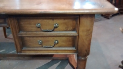 15E19019 LARGE WALNUT DESK WITH SHELL CARVING (2).jpg
