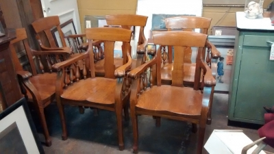 36-SET OF 6 OAK ARM CHAIRS (1).jpg
