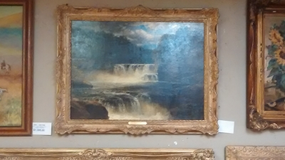 FRAMED WATERFALL OIL PAINTING.jpg