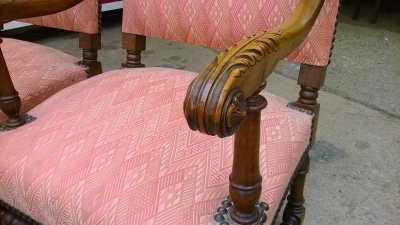 14D02015 PAIR OF LOUIS XIII STYLE ARM CHAIRS DETAIL (1)