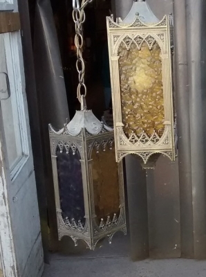 PAIR OF SMALL GOTHIC LANTERNS.jpg