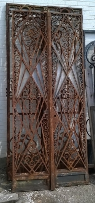 15F10 PAIR OF FRENCH DECO IRON DOORS (1).jpg